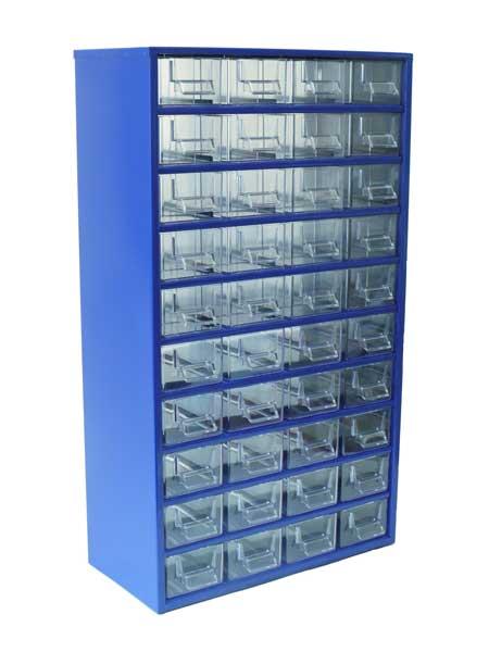 Skříňka na drobné součástky do dílny Mars; 40 E - modrá