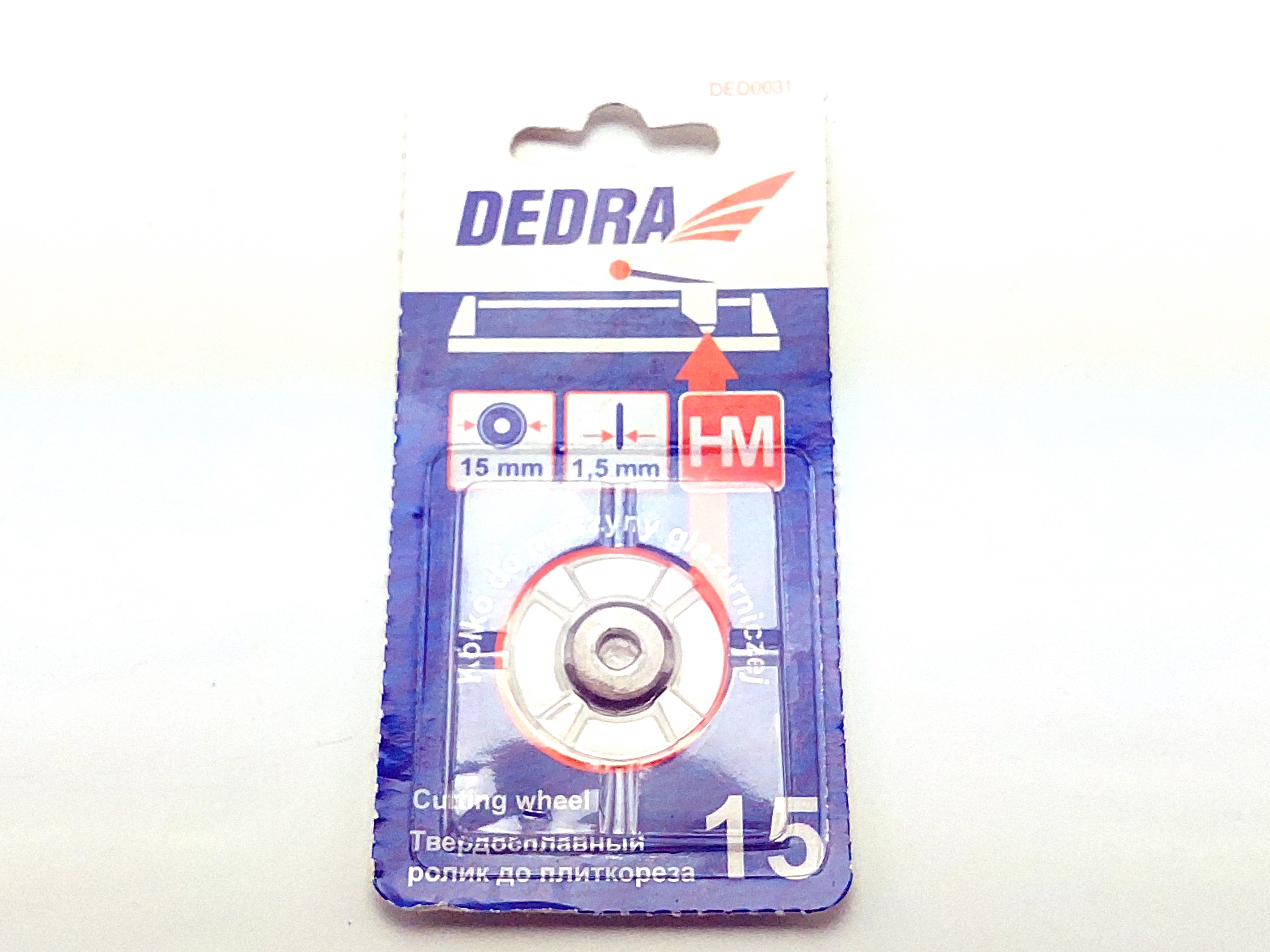 Řezné kolečko 15/1,5 mm HM do řezačky na dlažbu #1130 - 1132 / #1145 - 1147 / #1139 - 1140